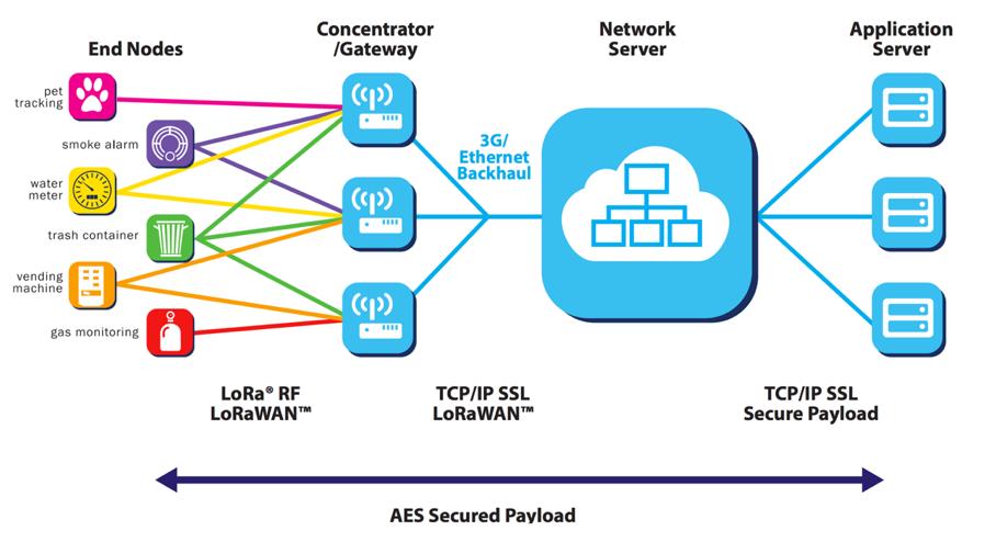 LoRa netwerk topology